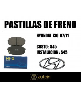 PASTILLAS DE FRENO HYUNDAI i30